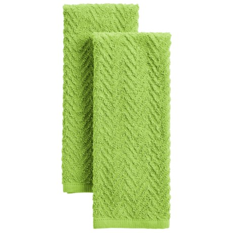 Chef's Essentials Bright Zigzag Terry Kitchen Towels - Set of 2
