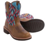 """Ariat Fatbaby Heritage Vivid Cowboy Boots - 8"""", Round Toe (For Women)"""