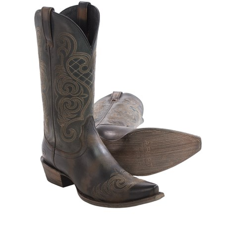 """Ariat Bright Lights Cowboy Boots - 12"""", Snip Toe (For Women)"""