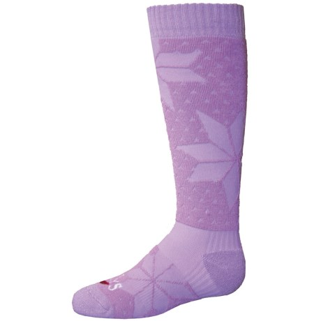 Hot Chillys Alpine Midweight Ski Socks - Over the Calf (For Little and Big Girls)