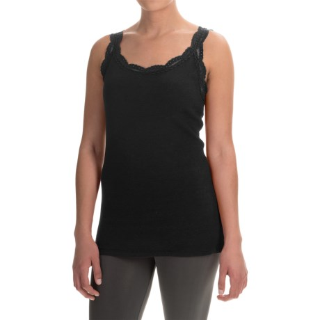 dylan Solid Lace-Trimmed Tank Top (For Women)