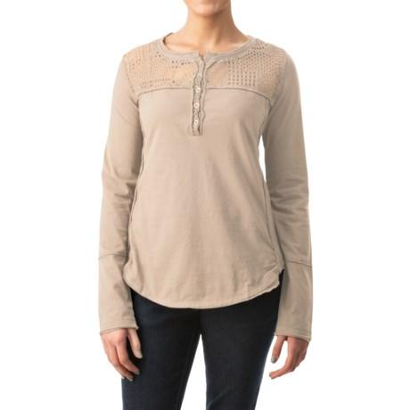 dylan Homestead Henley Shirt - Long Sleeve (For Women)
