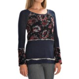 dylan Mixed Floral Shirt - Long Sleeve (For Women)
