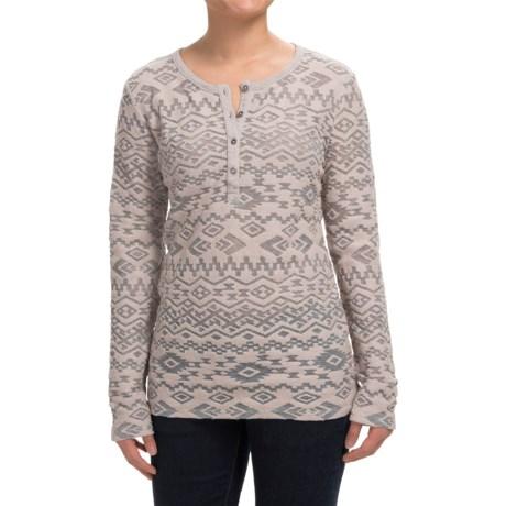 dylan Tribal Burnout Shirt - Button Neck, Long Sleeve (For Women)