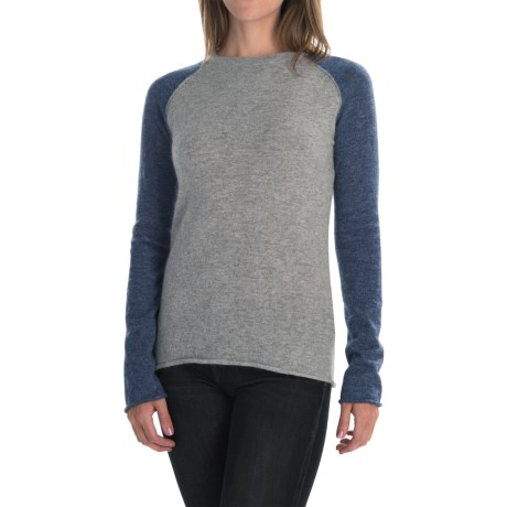 dylan Color-Block Sweater - Angora Blend (For Women)