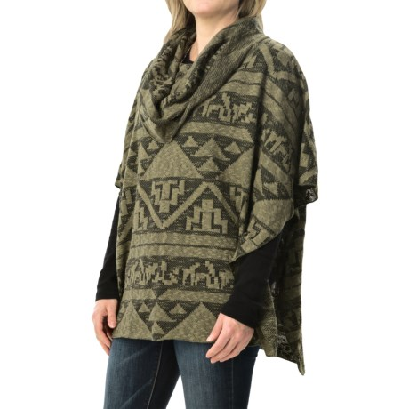 dylan Arrowhead Sweater Poncho - Cowl Neck (For Women)