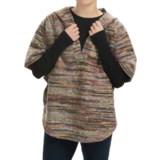 dylan Mesa Multi-Yarns Poncho - Hooded, Short Sleeve (For Women)