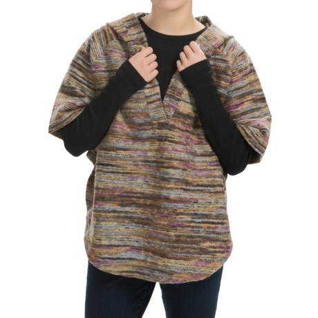 dylan Mesa Multi-Yarns Poncho - Hooded, Short Sleeve (For Women)