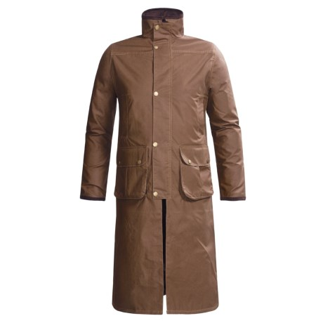 J.G. Glover Hampton Long Coat - Dry Waxed Cotton (For Men)