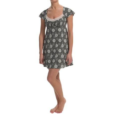 Cosabella Hortensia Nightgown - Pima Cotton-Modal, Short Sleeve (For Women)