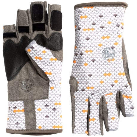 Buff Pro Series Angler Gloves - UPF 50+, Fingerless (For Men and Women)