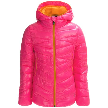 Spyder Hooded Taffeta Puffer Jacket - Insulated (For Little and Big Girls)