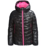 Spyder Hooded Plainweave Puffer Jacket - Insulated (For Little and Big Girls)