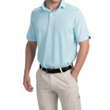 Wedge High-Performance Stripe Golf Polo Shirt - Short Sleeve (For Men)