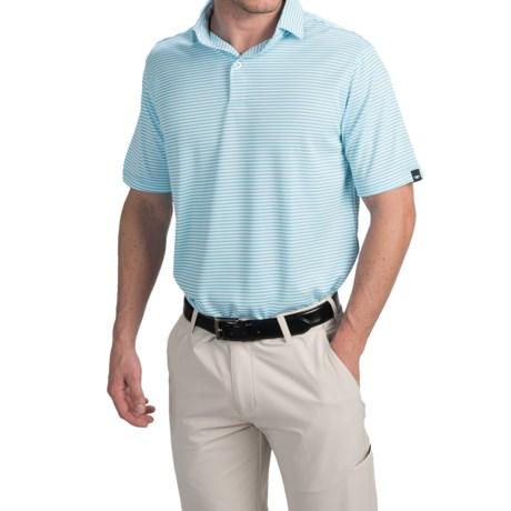 Wedge High-Performance Stripe Golf Polo Shirt - Short Sleeve (For Men)