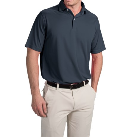 Chase Edward Solid High-Performance Polo Shirt - Short Sleeve (For Men)