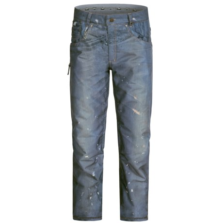 686 Reserved Destructed Denim Snowboard Pants - Waterproof, Insulated (For Men)