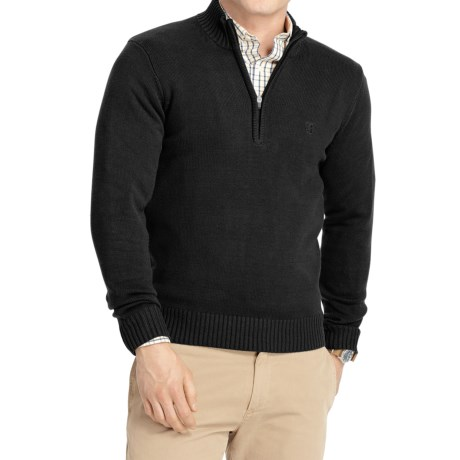 Izod IZOD Solid Sweater - Zip Neck (For Men)