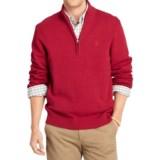IZOD Solid Sweater - Zip Neck (For Men)
