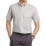 Van Heusen Luxe Touch Mini Plaid Shirt - Short Sleeve (For Men)