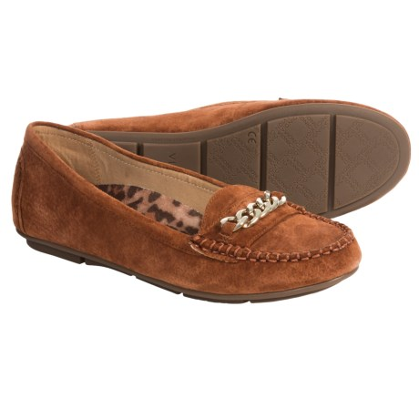 Vionic with Orthaheel Technology Chill Mesa Loafers - Suede (For Women)