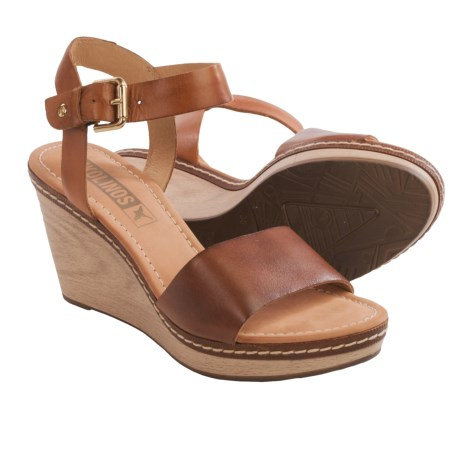 Pikolinos Creta Wedge Leather Sandals (For Women)