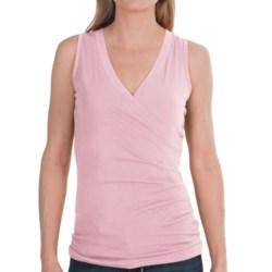 Lilla P Jersey Surplice Shirt - Pima Cotton, Sleeveless (For Women)