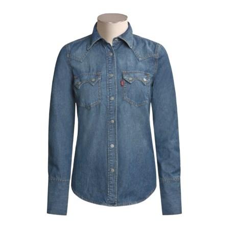 Levi's Levi Vintage Wash Denim Shirt - Long Sleeve (For Women)