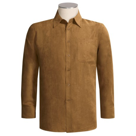Oleg Cassini Faux Suede Shirt - Long Sleeve (For Men)