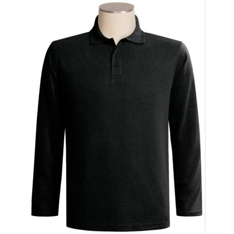 Oleg Cassini Ottoman Polo Shirt - Silk-Cotton, Long Sleeve (For Men)