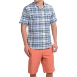 Tommy BahamaPlaid Zione Shirt - Cotton-Linen, Short Sleeve (For Men and Big Men)