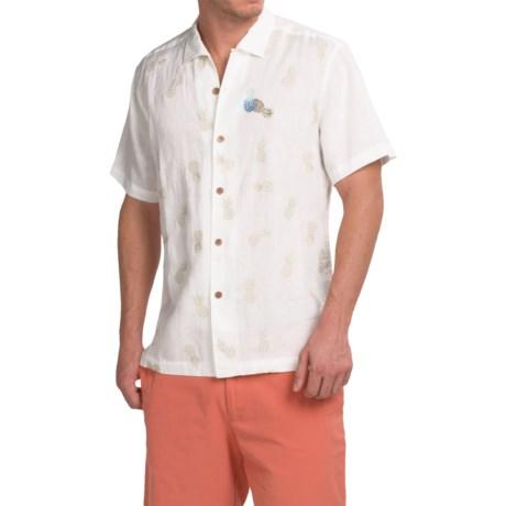 Tommy BahamaPineapple Reign Linen Shirt - Short Sleeve (For Men and Big Men)