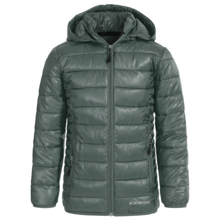 Boulder Gear D-Lite Puffer Jacket - Insulated (For Big Girls) in Heather Grey - Closeouts