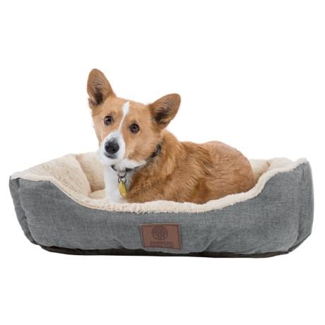 """AKC Burlap Cuddler Dog Bed - 28x20"""""""