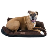 AKC Fur Texture Gusset Dog Bed - 27x36""
