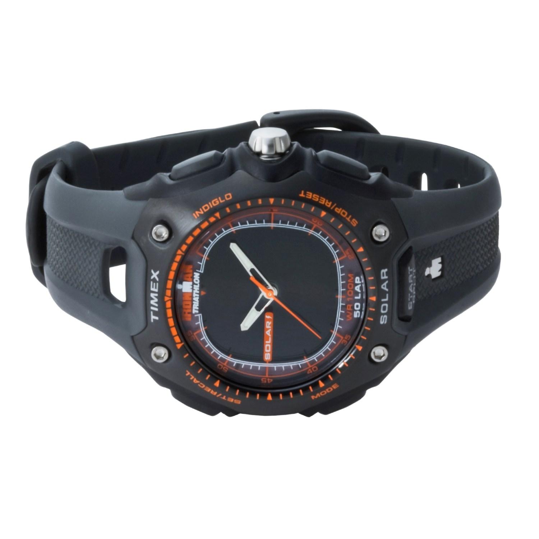 bd8554b82fe9d Timex Ironman Triathlon Solar Dual-Tech Sports Watch 1294U .