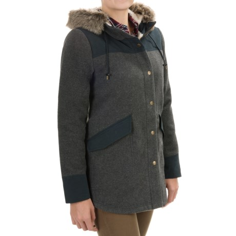 Carve Designs Crescent Cargo Jacket - Wool Blend (For Women)
