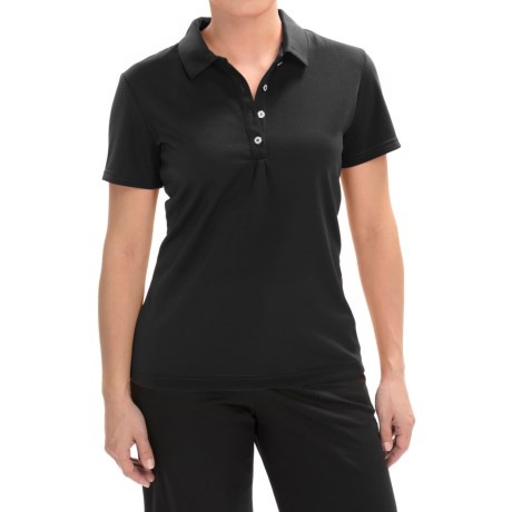 Sport Haley Qwickool Textured Polo Shirt - Short Sleeve (For Women)