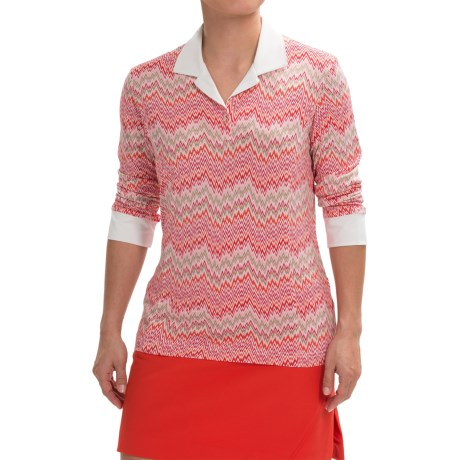 Sport Haley Gabriella Printed Shirt - 3/4 Sleeve (For Women)