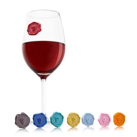 Vacu Vin Classic Grapes Wine Glass Markers - Set of 8