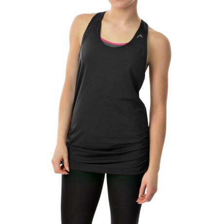 Head Textured Tank Top - Loose Fit, Racerback (For Women)