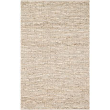 """Loloi Edge Flat-Weave Leather and Jute Area Rug - 3'6""""x5'6"""""""