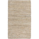 "Loloi Edge Flat-Weave Leather and Jute Accent Rug - 2'3""x3'9"""