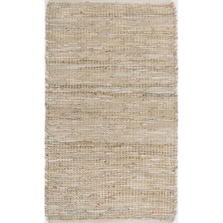 """Loloi Edge Flat-Weave Leather and Jute Accent Rug - 2'3""""x3'9"""""""