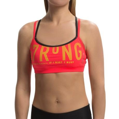Reebok One Series 57RONG Sports Bra - Medium Impact (For Women)