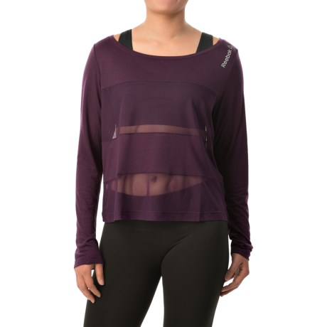 Reebok Les Mills Layering Shirt -Semi Sheer, Long Sleeve (For Women)