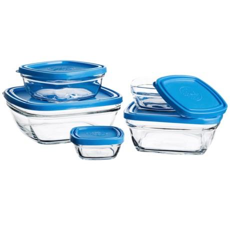 Duralex Lys Glass Storage Bowl Set - 5-Piece