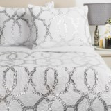 Ivy Hill Home Trellis Quilt Set - Full-Queen