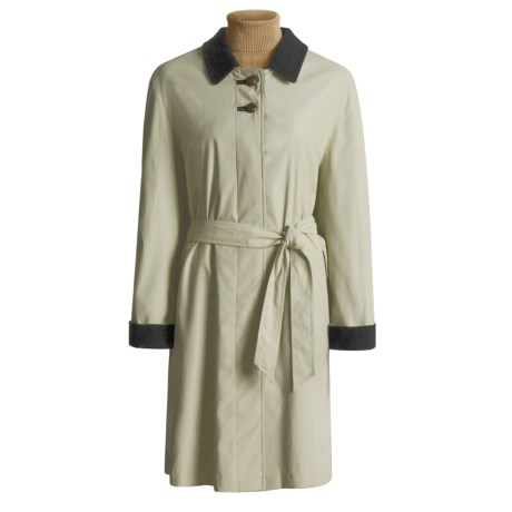 Steinbock Microfiber Car Coat - Wool Lined (For Women)