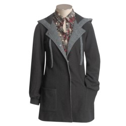 Cullen Hooded Coat - Boiled Wool (For Women)